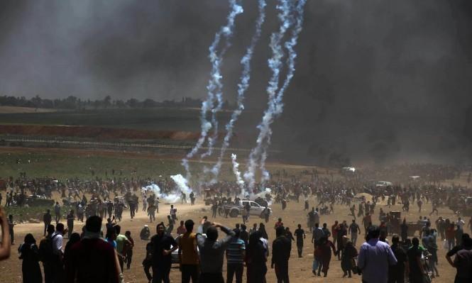 غزة: 5 إصابات في استهداف الاحتلال تأبين شهداء العودة بِخُزاعة