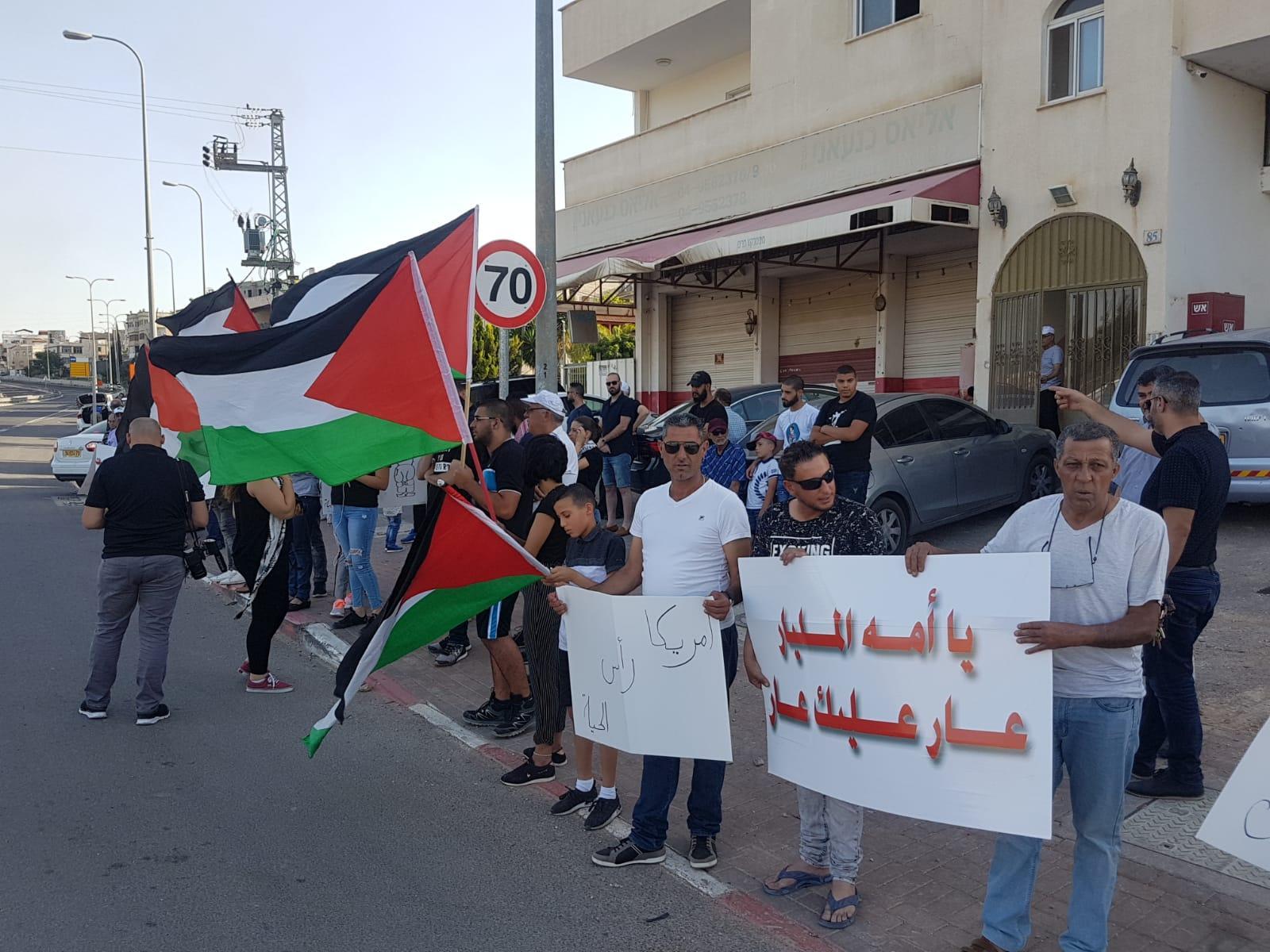 وقفتان احتجاجيتان نصرة لغزة في عكا وجديدة المكر