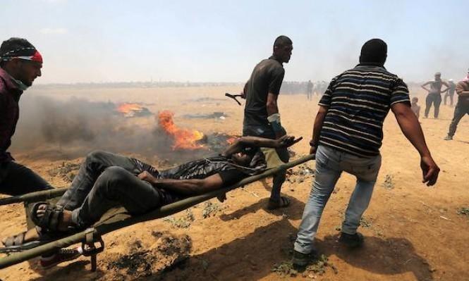"""جمعة """"الشهداء والجرحى"""": 56 إصابة باعتداءات الاحتلال شرق القطاع"""
