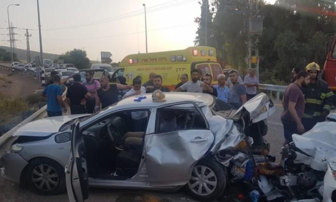 3 إصابات متوسطة بحادث طرق قرب كفر مصر