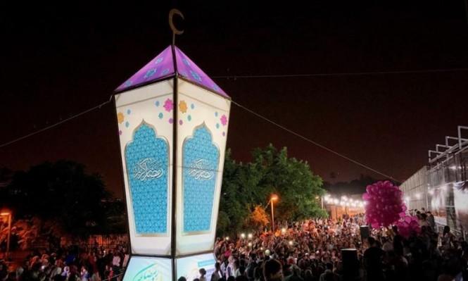 القدس تضيء أكبر فانوس رمضاني بفلسطين