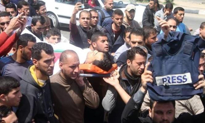 157 إصابة بصفوف الصحافيين منذ بدء مسيرات العودة