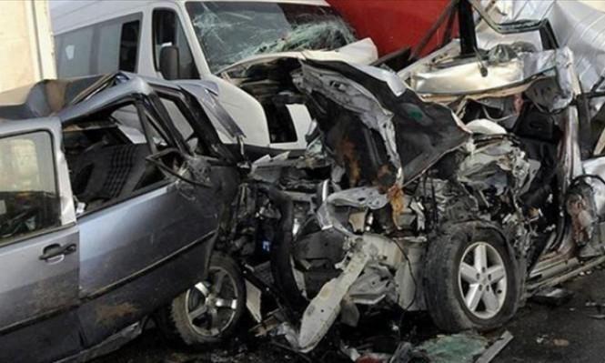 مصرع 4 وإصابة 206 فلسطينيين في 287 حادث سير بأسبوع
