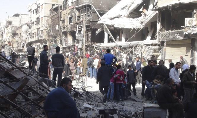 مقتل 10 لاجئين فلسطينيين بقصف لمخيم اليرموك