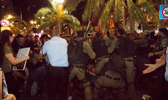 """""""عدالة"""" يقدم شكوى ضد أفراد الشرطة الضالعين في تفريق مظاهرة حيفا"""