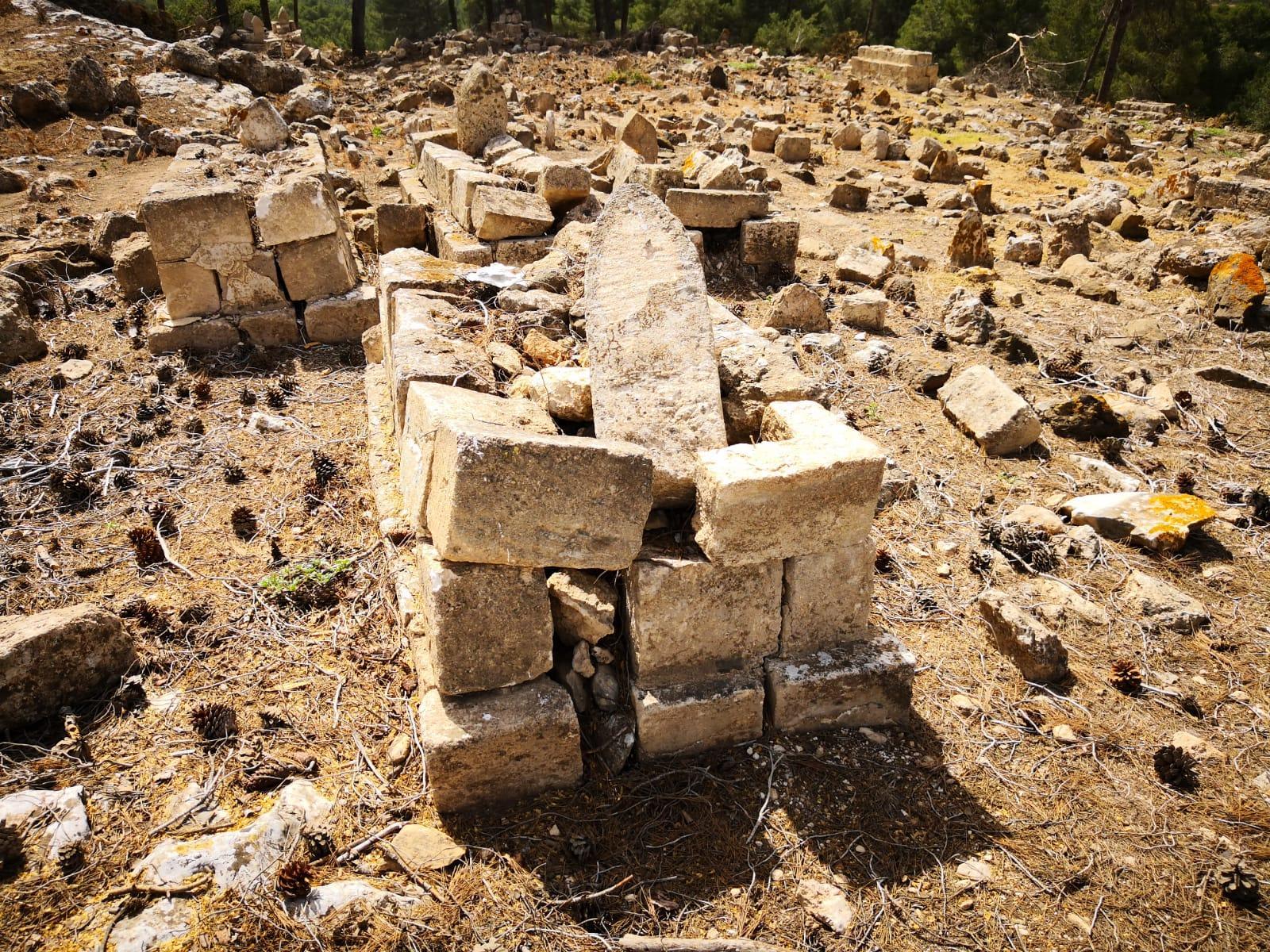تخريب في مقبرة قرية لوبية المهجرة