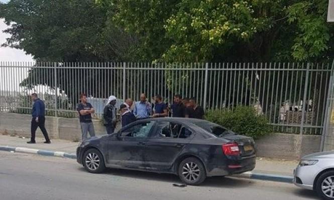 الاعتداء على سيارة مدير ثانوية عرعرة النقب
