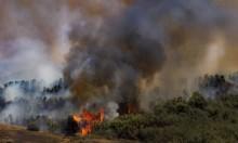 """حرائق بـ3000 دونم من الأحراش بـ""""غلاف غزة"""" بفعل طائرات ورقية"""