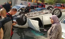 يافا: إصابة شخص بانقلاب سيارة