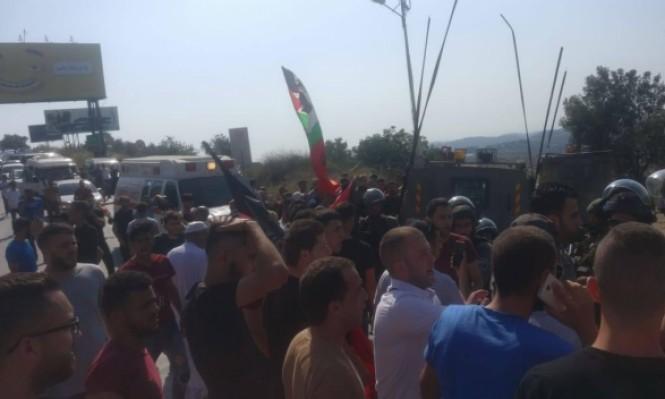 تشييع جثمان الشهيد عز الدين التميمي في قرية النبي صالح