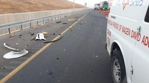 3 إصابات في حادث طرق قرب اللقية