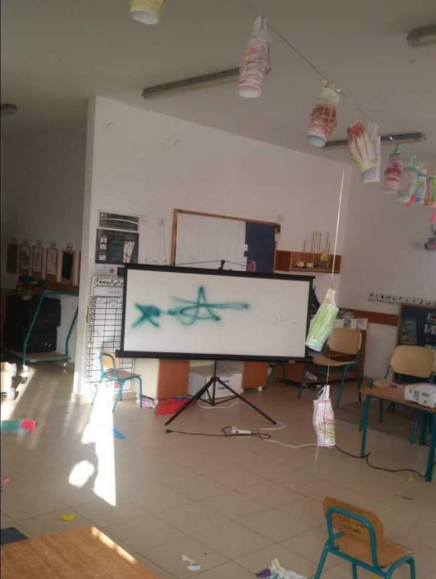النقب: تخريب في رياض الأطفال بقرية أبو تلول