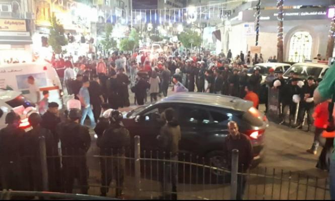 أمن السّلطة يقمع مسيرة رام الله: 4 مُصابات و14 مُعتقلا