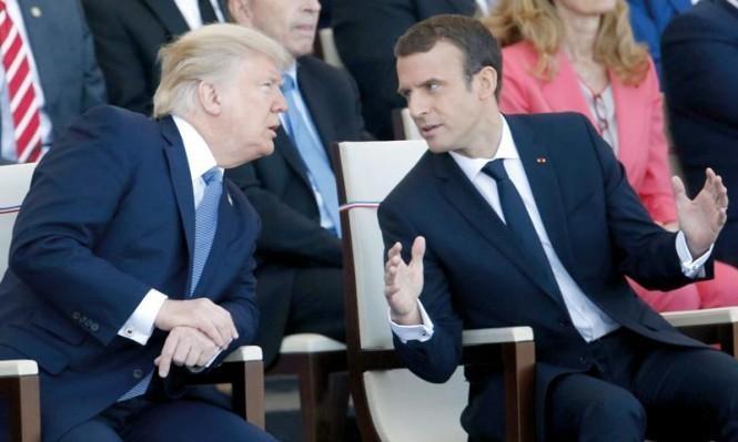 ترامب وماكرون يبحثان تجنب اندلاع حرب بين الحلفاء