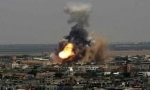 طائرة إسرائيلية تقصف مركبة فارغة شرق غزة