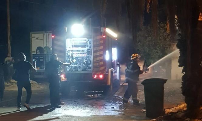 اندلاع حريق بمنزل مأهول في قلنسوة