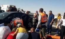 إصابة 8 أشخاص بينهم طفلان بجروح خطيرة فى حادث طرق جنوبي البلاد