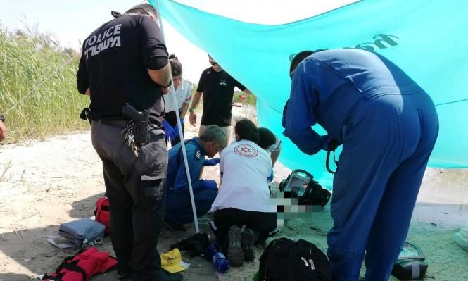 غرق طفلة بأحد شواطئ طبريا وحالتها حرجة