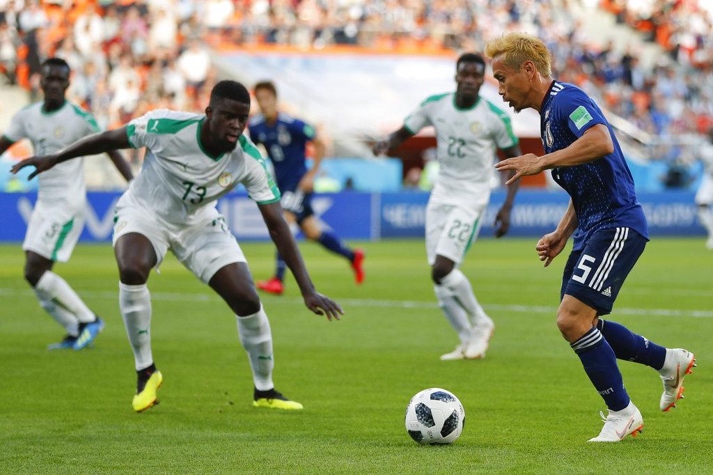 اليابان والسنغال تفترقان بالتعادل بهدفين لكل منهما