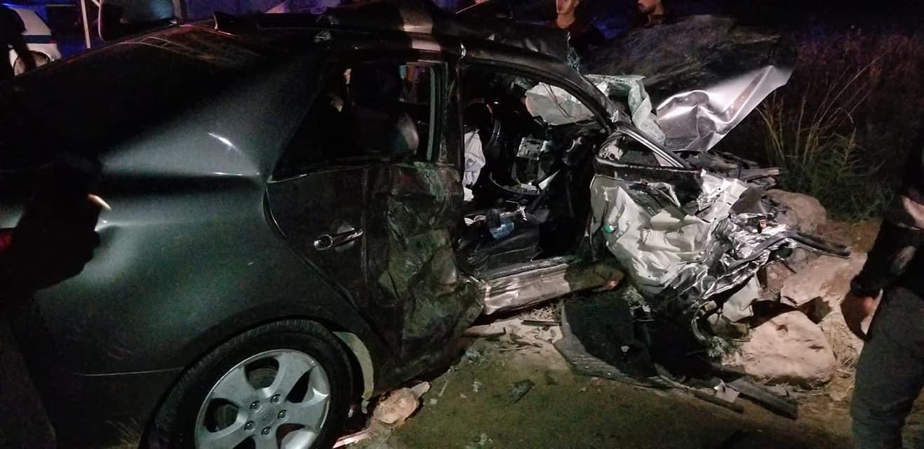 مصرع شاب وإصابة 4 آخرين بحادث طرق قرب طوباس
