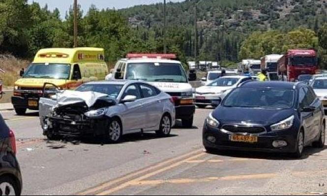 6 إصابات في حادث بين 5 سيارات على شارع 70