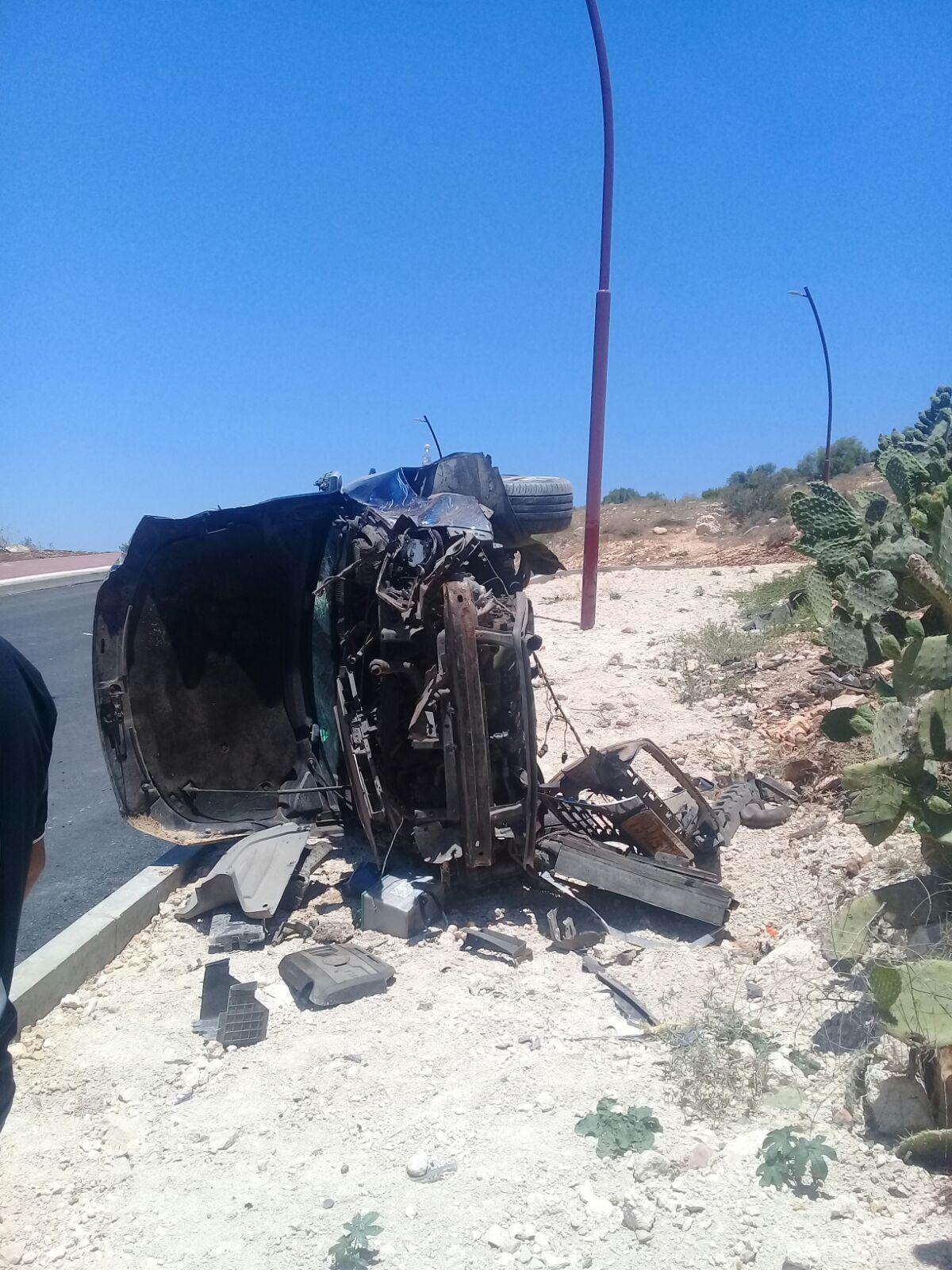 طمرة: إصابة خطيرة لشاب في حادث طرق