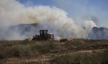 """البالونات الحارقة تشعل النيران في المجلس الإقليمي """"أشكول"""""""