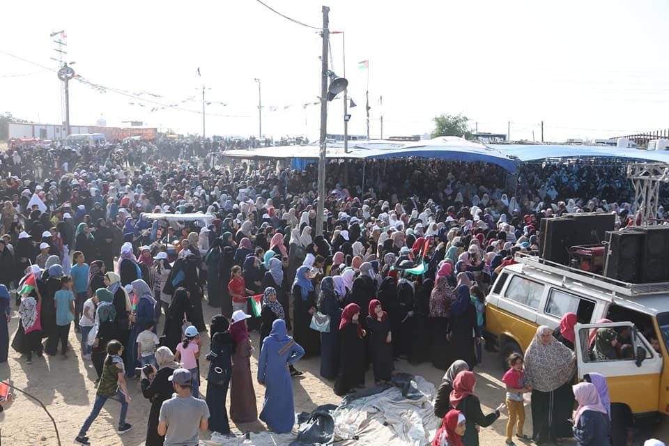 إصابات بالرصاص الحي في قمع الاحتلال لمسيرة نسوية في غزة