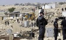 الاحتلال يهدم تجمع ابو النوار البدوي