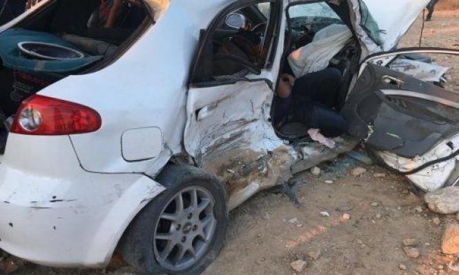5 إصابات إحداها خطيرة في حادث طرق بالنقب