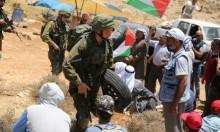 الاحتلال يقمع مظاهرة بالخليل ويواصل استهداف مياه الأغوار