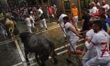 انطلاق مسابقة الركض مع الثيران في إسبانيا