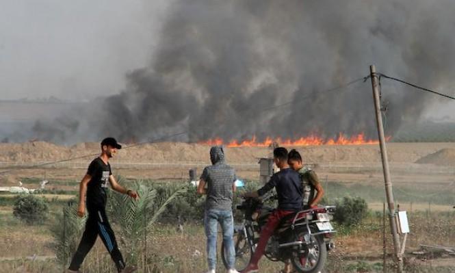 طائرة مسيرة تستهدف مسيرة للعودة بغزة