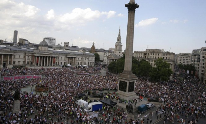 بريطانيا: ترامب يلتقي ماي على وقع 100 احتجاج