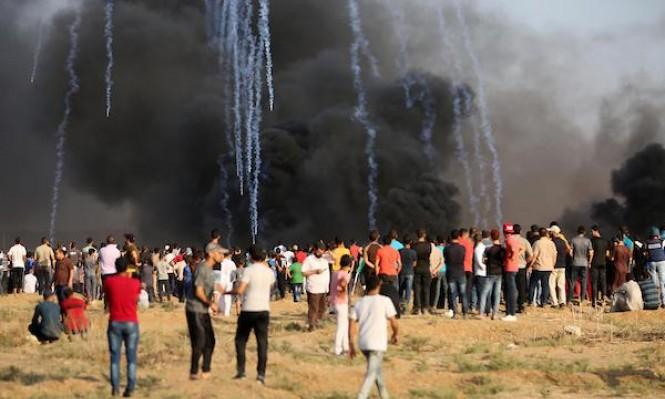 غزة: استشهاد طفل برصاص الاحتلال وإصابة 220 آخرين