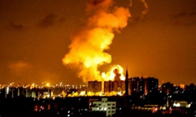 الاحتلال يقصف مواقع قطاع والمقاومة بالصواريخ
