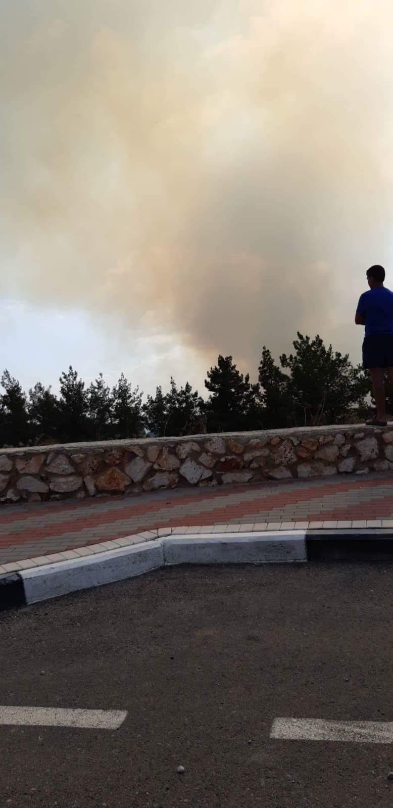 حريق في كوكب أبو الهيجاء
