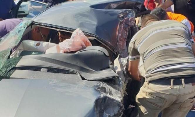 مصرع فتى بانقلاب رافعة وإصابات خطيرة بحادث قرب نابلس