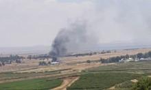 سوريون يحرقون معبر القنيطرة الواصل بين شطري الجولان