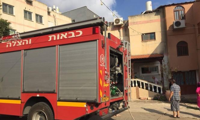 إصابة في حريق بمنزل مأهول في طمرة