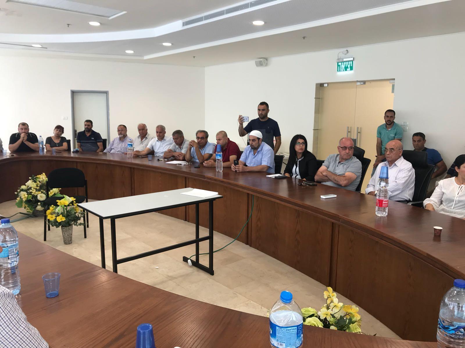 سخنين: العشرات في تظاهرة ضد الهدم والثلاثاء إضراب