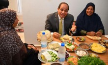 السيسي يُقسم أنه سيتناول وجبة واحدة لبناء مصر