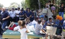 الشرطة الإيطالية تسبق المحكمة وتهدم مخيما للغجر