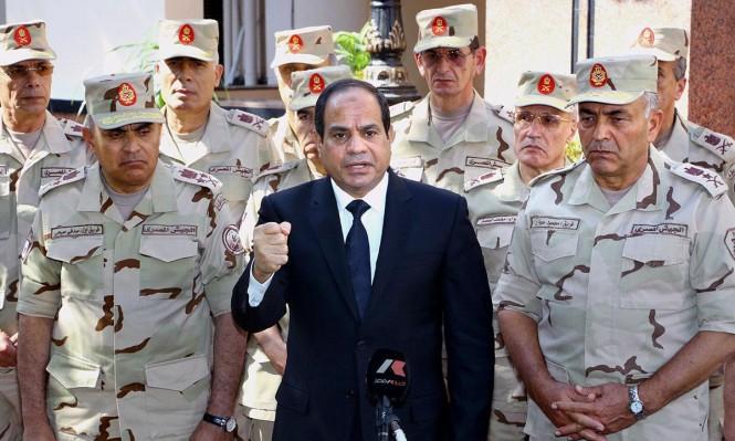 السيسي يقر قانون تحصين قادة الجيش