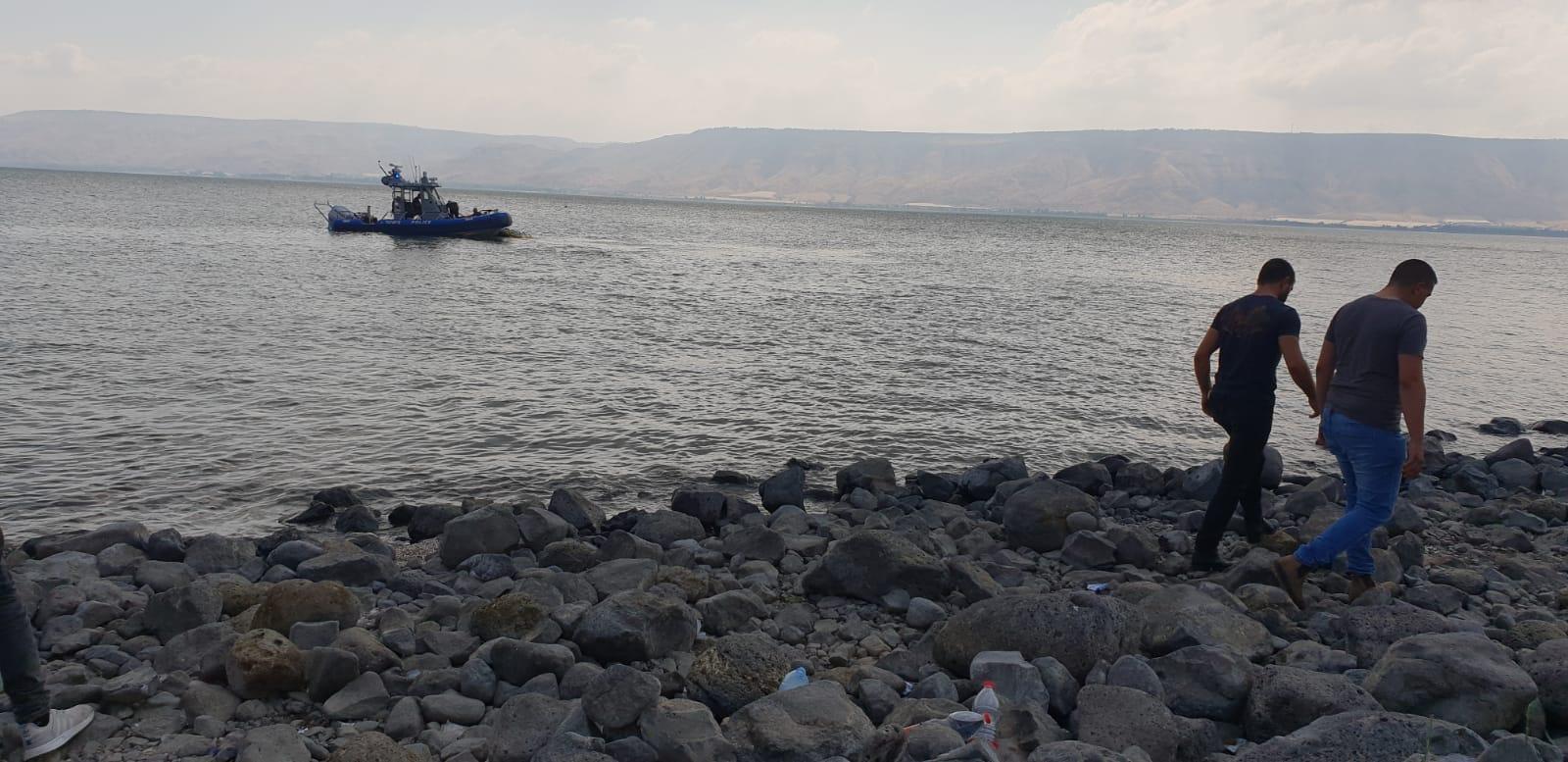 عرابة: استئناف البحث عن شاب سحبته مياه بحيرة طبرية