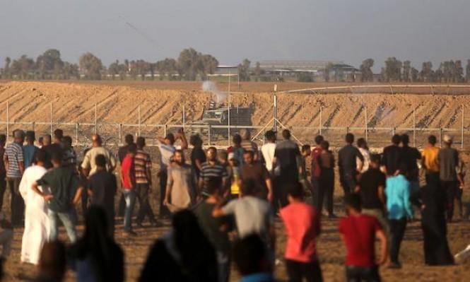 مصاب برصاص الاحتلال الحي شرق غزة