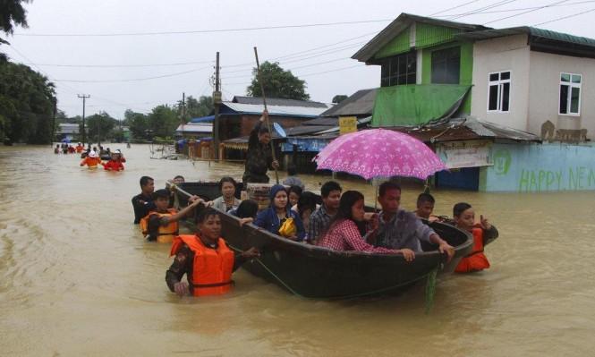 ميانمار: السيول تشرد أكثر من 100 ألف شخص