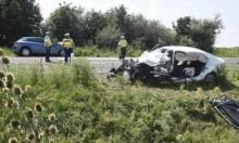 مصرع رجل من عرّابة وإصابة أفراد عائلته بحادث سير بهنغاريا