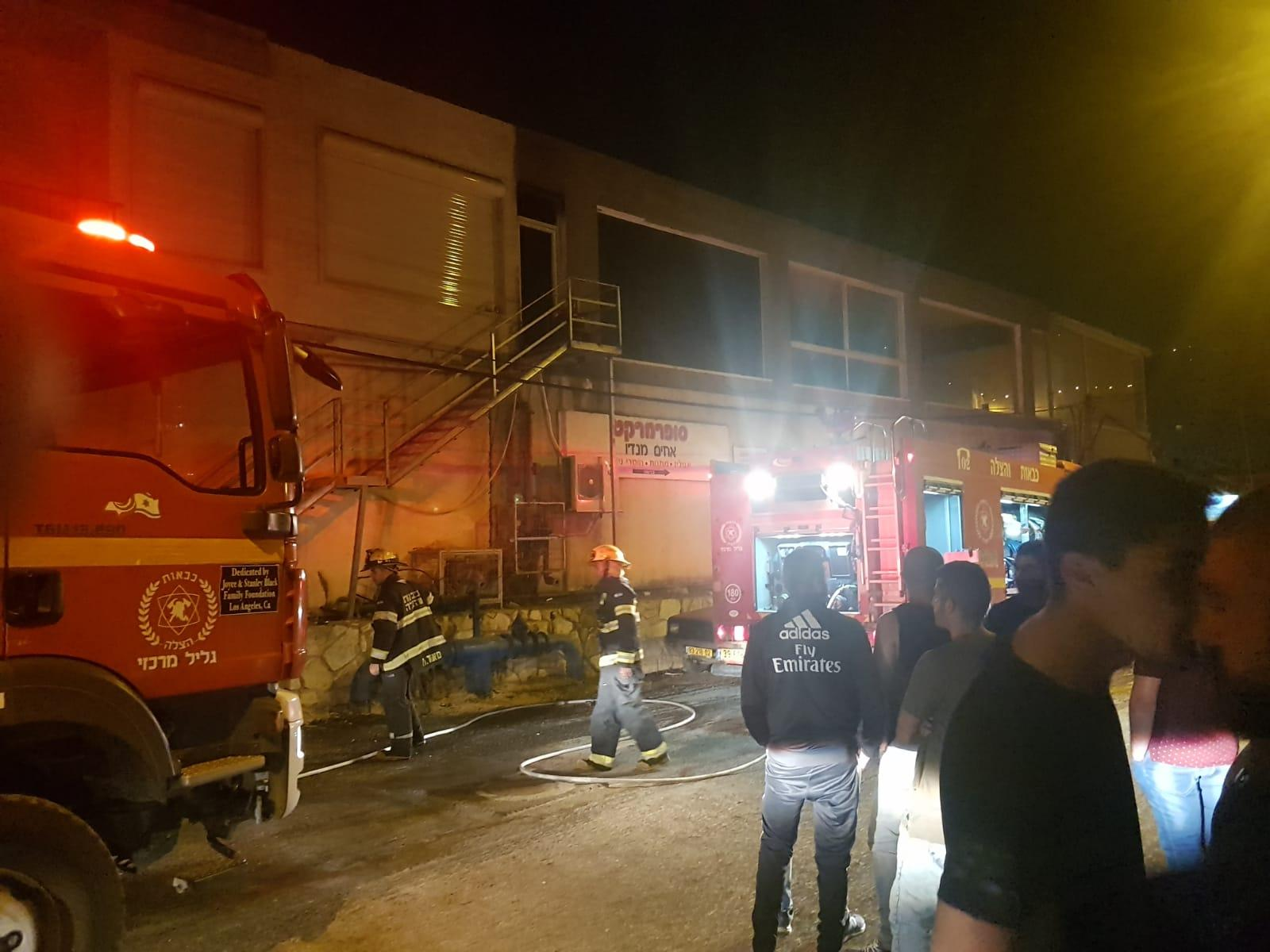 بيت جن: اندلاع حريق في محل تجاري