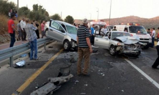 خلال أسبوع.. مصرع 6 فلسطينيين و207 إصابة بحوادث سير بالضفة